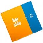 Ręcznik plażowy dla Pary - Her Side His Side