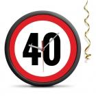 Zegar urodzinowy 40 - Przekrocz limit - cichy mechanizm