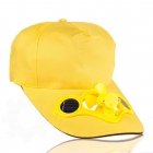 Solar cap with fan - Yellow