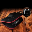 Case for Couple with Wine and Whisky Glasses Froster Who cares Diamond