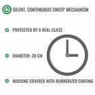 Zegar telewizyjny - cichy mechanizm