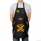 Schürze für einen kochenden Mann (DE)