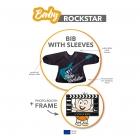 Baby Rockstar - Śliniak z rękawami