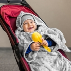 Baby Wrapi - Kocyk z rękawami - Szary