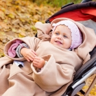 Baby Wrapi Active - Blanket with sleeves - Toffi