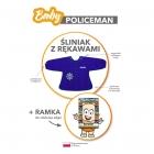 Baby Policeman (PL) - Śliniak z rękawami