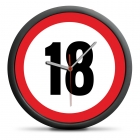 18th Birthday Clock - Exceed the limit - silent mechanism
