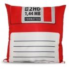 Povlak na polštář – disketa - Červený