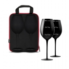 Case with wine glasses diVinto - Who cares - Black