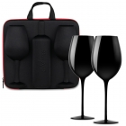 Wine Case with Glasses diVinto Black