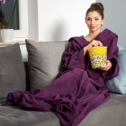 Blanket dressing gown - Plum
