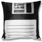 Floppy Disc Pillowcase - Black