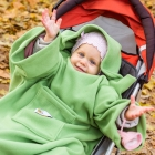 Baby Wrapi Active - Blanket with sleeves - Peas