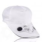 Solar cap with fan - White