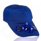 Solární čepice s větráčkem - Modrý