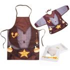 Baby Sheriff - bib and apron