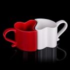 Zaľúbené hrnčeky - Červeno-biely