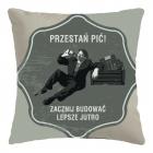 Retro Pillowcase - Przestań pić (PL)