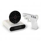 Gun alarm clock - White