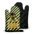 Kitchen glove - Warning Man Cooking (HU)