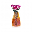 Expanding Flower Vase - Orange Medallions