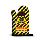 Kitchen glove - Warning Man Cooking (PL)